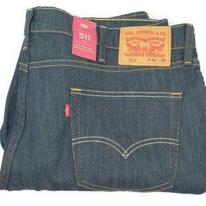 Levi's Brand New Men's (42x30) 511 Slim Blue Jeans